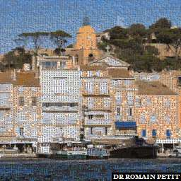 Photo-mosaïques 030820051826b - Saint-Tropez vu de face